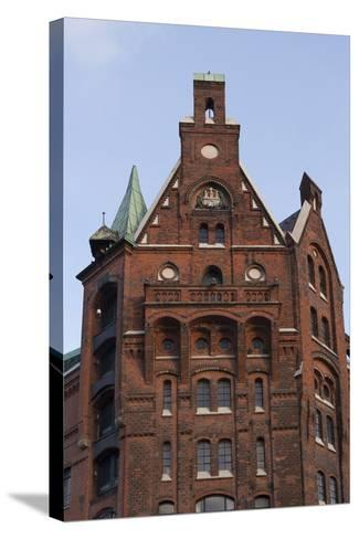 Hamburg, Speicherstadt, Gable-Catharina Lux-Stretched Canvas Print