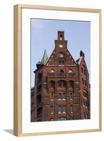 Hamburg, Speicherstadt, Gable-Catharina Lux-Framed Art Print