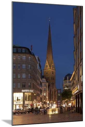 Hamburg, Jungfernstieg, St. Peter's Church, Dusk-Catharina Lux-Mounted Photographic Print