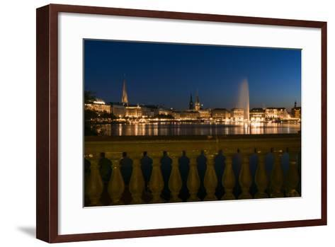 Hamburg, the Inner Alster, Dusk-Catharina Lux-Framed Art Print
