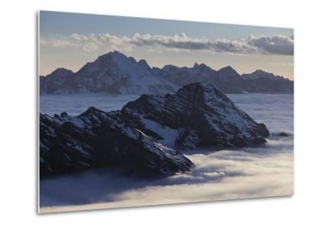 Italy, Lombardy, Stilfser Joch (Col) National Park, View of Monte Scorluzzo, Cresta Di Riding-Rainer Mirau-Metal Print