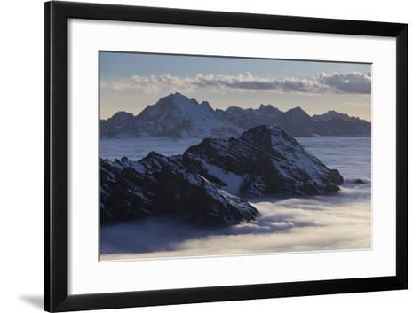 Italy, Lombardy, Stilfser Joch (Col) National Park, View of Monte Scorluzzo, Cresta Di Riding-Rainer Mirau-Framed Art Print