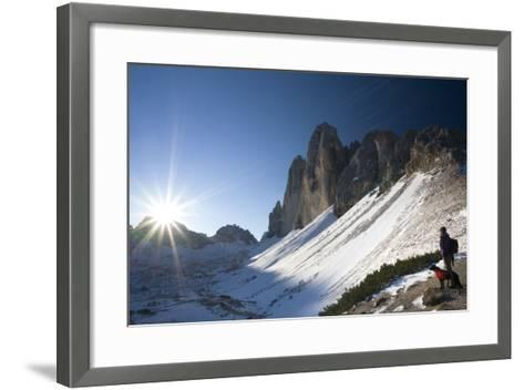 Italy, South-Tyrol, Sextener Dolomites, Three Peaks of Lavaredo, Mountain-Landscape-Rainer Mirau-Framed Art Print