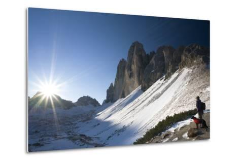 Italy, South-Tyrol, Sextener Dolomites, Three Peaks of Lavaredo, Mountain-Landscape-Rainer Mirau-Metal Print