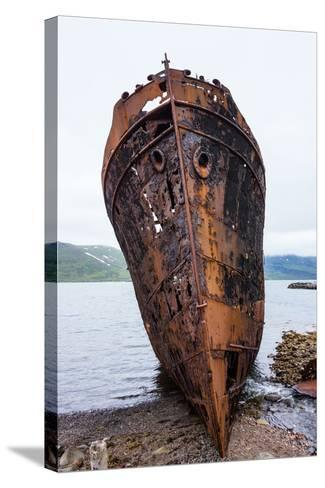 Iceland, Djupavik, Former Fish Factory, Ship Wreck-Catharina Lux-Stretched Canvas Print