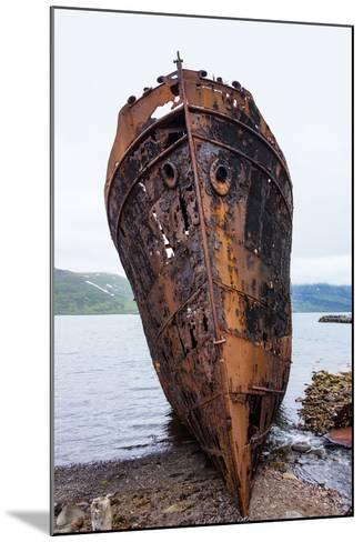Iceland, Djupavik, Former Fish Factory, Ship Wreck-Catharina Lux-Mounted Photographic Print