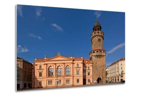 Germany, Saxony, Gšrlitz, Humboldt House and Reichenbacher Tower-Catharina Lux-Metal Print