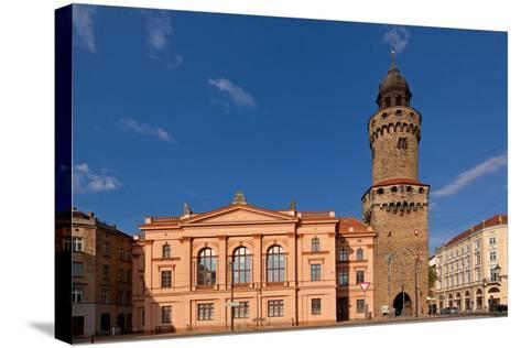 Germany, Saxony, Gšrlitz, Humboldt House and Reichenbacher Tower-Catharina Lux-Stretched Canvas Print