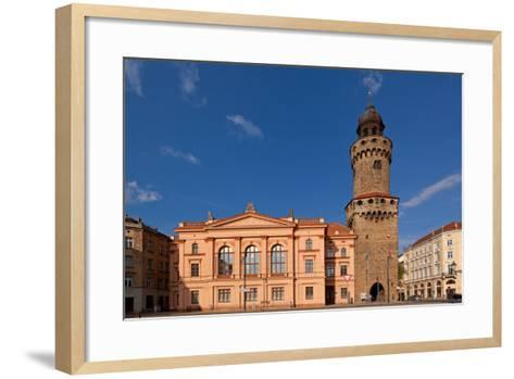 Germany, Saxony, Gšrlitz, Humboldt House and Reichenbacher Tower-Catharina Lux-Framed Art Print