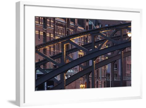Hamburg, Speicherstadt, Kehrwieder-Catharina Lux-Framed Art Print