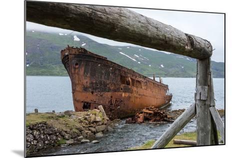 Iceland, Djupavik, Ship Wreck-Catharina Lux-Mounted Photographic Print
