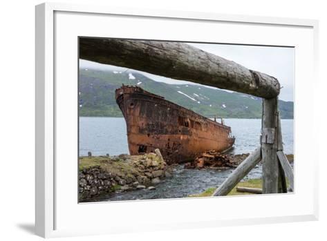 Iceland, Djupavik, Ship Wreck-Catharina Lux-Framed Art Print