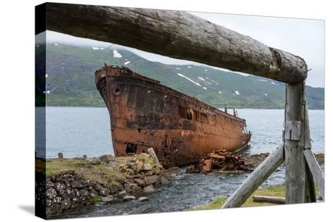 Iceland, Djupavik, Ship Wreck-Catharina Lux-Stretched Canvas Print