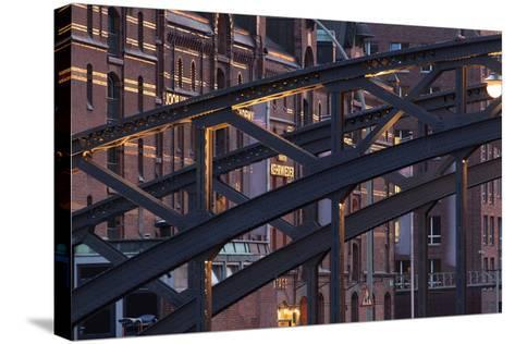 Hamburg, Speicherstadt, Kehrwieder-Catharina Lux-Stretched Canvas Print