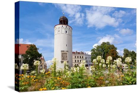 Germany, Saxony, Gšrlitz, Marienplatz, Thick Tower-Catharina Lux-Stretched Canvas Print