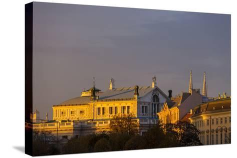 Europe, Austria, Vienna, Burgtheater, Back View-Gerhard Wild-Stretched Canvas Print