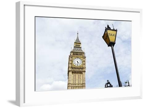 Big Ben, Clock Tower of the Palace of Westminster, British Parliament-Axel Schmies-Framed Art Print