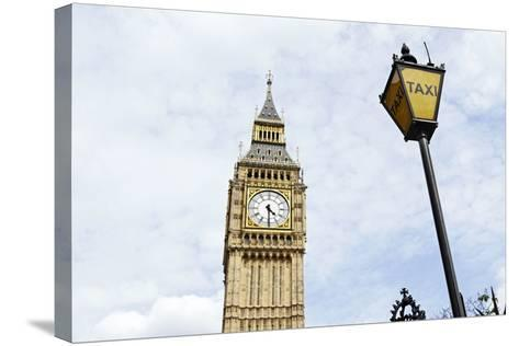 Big Ben, Clock Tower of the Palace of Westminster, British Parliament-Axel Schmies-Stretched Canvas Print