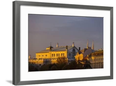 Europe, Austria, Vienna, Burgtheater, Back View-Gerhard Wild-Framed Art Print