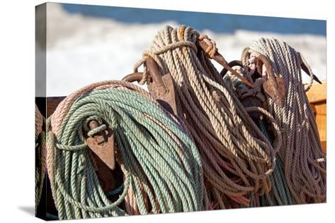 The Baltic Sea, RŸgen, Fishing, Ropes, Anchor-Catharina Lux-Stretched Canvas Print