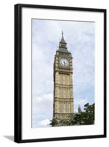 Big Ben, Clock Tower of the Palace of Westminster, British Parliament-Axel Schmies-Framed Art Print