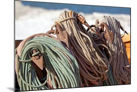 The Baltic Sea, RŸgen, Fishing, Ropes, Anchor-Catharina Lux-Mounted Photographic Print