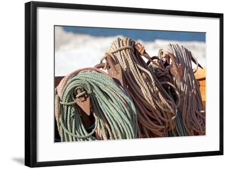The Baltic Sea, RŸgen, Fishing, Ropes, Anchor-Catharina Lux-Framed Art Print