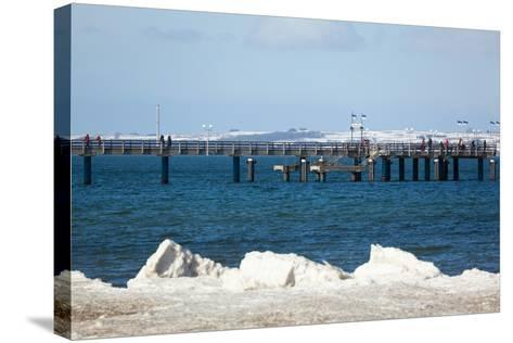 The Baltic Sea, RŸgen, Binz Pier, Winter-Catharina Lux-Stretched Canvas Print