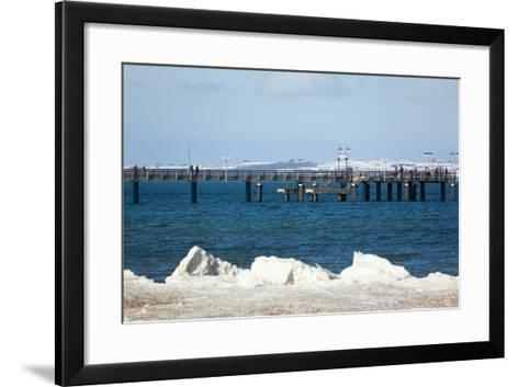 The Baltic Sea, RŸgen, Binz Pier, Winter-Catharina Lux-Framed Art Print