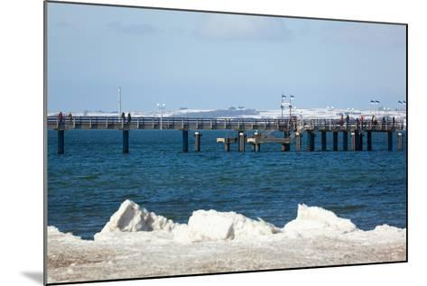 The Baltic Sea, RŸgen, Binz Pier, Winter-Catharina Lux-Mounted Photographic Print