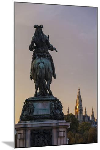 Europe, Austria, Vienna, City Hall, Prince Eugene Monument-Gerhard Wild-Mounted Photographic Print