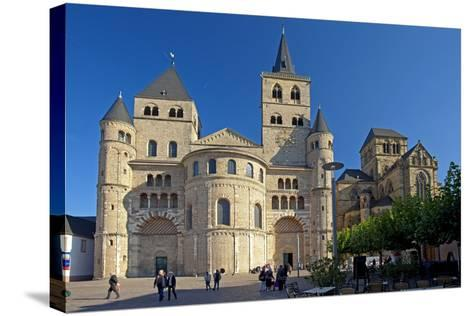 Germany, Rhineland-Palatinate, the Moselle, Trier, Cathedral-Chris Seba-Stretched Canvas Print