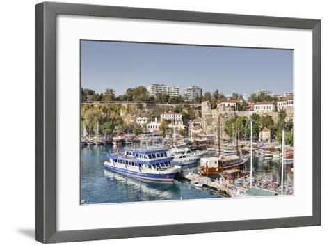 Asia, Turkey, Antalya, Harbour, Ships-Harald Schšn-Framed Art Print