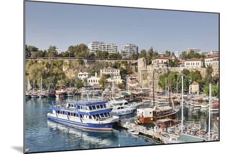 Asia, Turkey, Antalya, Harbour, Ships-Harald Schšn-Mounted Photographic Print