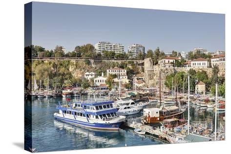Asia, Turkey, Antalya, Harbour, Ships-Harald Schšn-Stretched Canvas Print