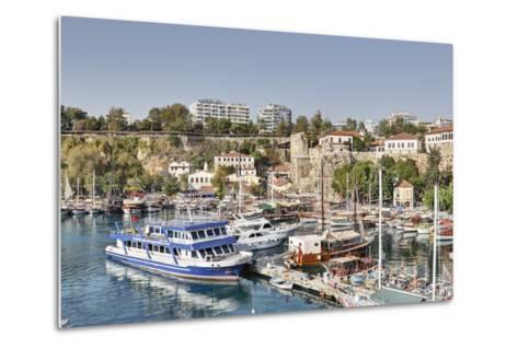 Asia, Turkey, Antalya, Harbour, Ships-Harald Schšn-Metal Print