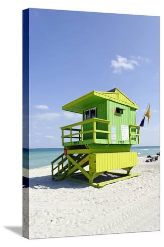 Beach Lifeguard Tower '77 St', Atlantic Ocean, Miami South Beach, Florida, Usa-Axel Schmies-Stretched Canvas Print