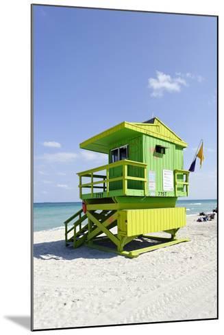 Beach Lifeguard Tower '77 St', Atlantic Ocean, Miami South Beach, Florida, Usa-Axel Schmies-Mounted Photographic Print