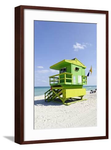 Beach Lifeguard Tower '77 St', Atlantic Ocean, Miami South Beach, Florida, Usa-Axel Schmies-Framed Art Print