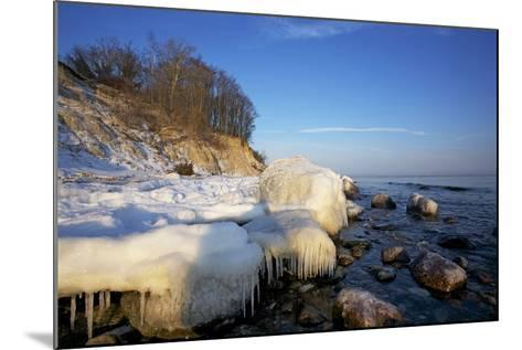 Iced Up Brodten Shore Near TravemŸnde in the Morning Light-Uwe Steffens-Mounted Photographic Print