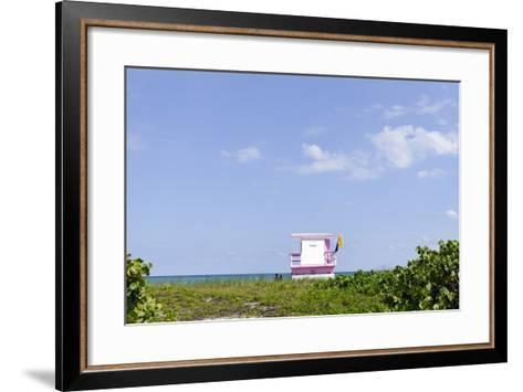 Beach Lifeguard Tower '83 St', Atlantic Ocean, Miami South Beach, Florida, Usa-Axel Schmies-Framed Art Print