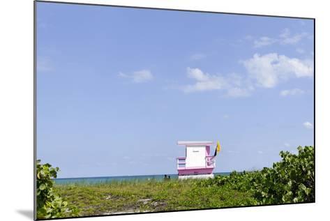 Beach Lifeguard Tower '83 St', Atlantic Ocean, Miami South Beach, Florida, Usa-Axel Schmies-Mounted Photographic Print