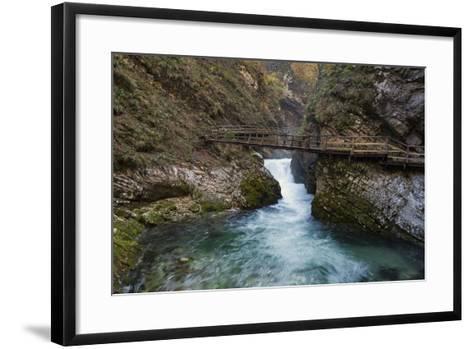 Slovenia, Vintgar Gorge, Triglav National Park-Simone Wunderlich-Framed Art Print