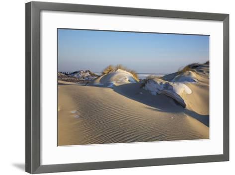 Wintry Dune Landscape Drifting Dune of List on the Island of Sylt in the Evening Light-Uwe Steffens-Framed Art Print