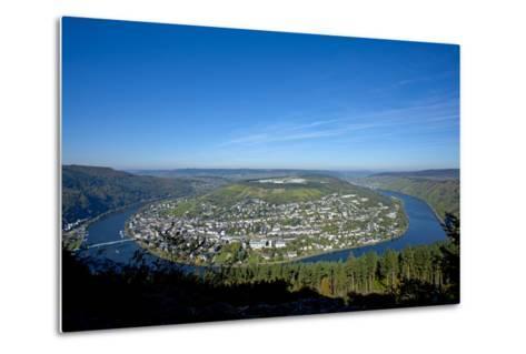 Germany, Rhineland-Palatinate, Traben-Trarbach, Moselle Valley, Overview, Moselle Loop-Chris Seba-Metal Print