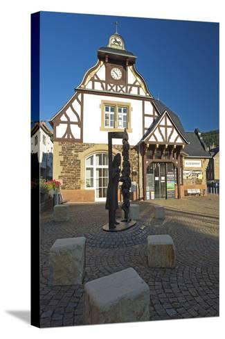 Germany, Rhineland-Palatinate, Traben-Trarbach, City Hall Traben-Chris Seba-Stretched Canvas Print