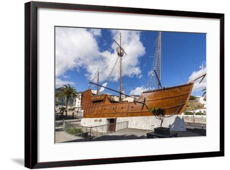 Replica of the Ship Santa Maria of Christoph Columbus, the Museum of Naval, La Palma-Gerhard Wild-Framed Art Print