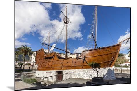 Replica of the Ship Santa Maria of Christoph Columbus, the Museum of Naval, La Palma-Gerhard Wild-Mounted Photographic Print