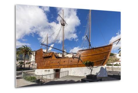 Replica of the Ship Santa Maria of Christoph Columbus, the Museum of Naval, La Palma-Gerhard Wild-Metal Print