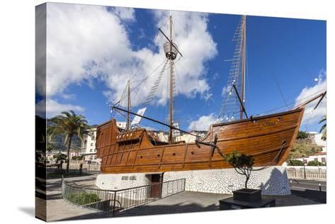 Replica of the Ship Santa Maria of Christoph Columbus, the Museum of Naval, La Palma-Gerhard Wild-Stretched Canvas Print